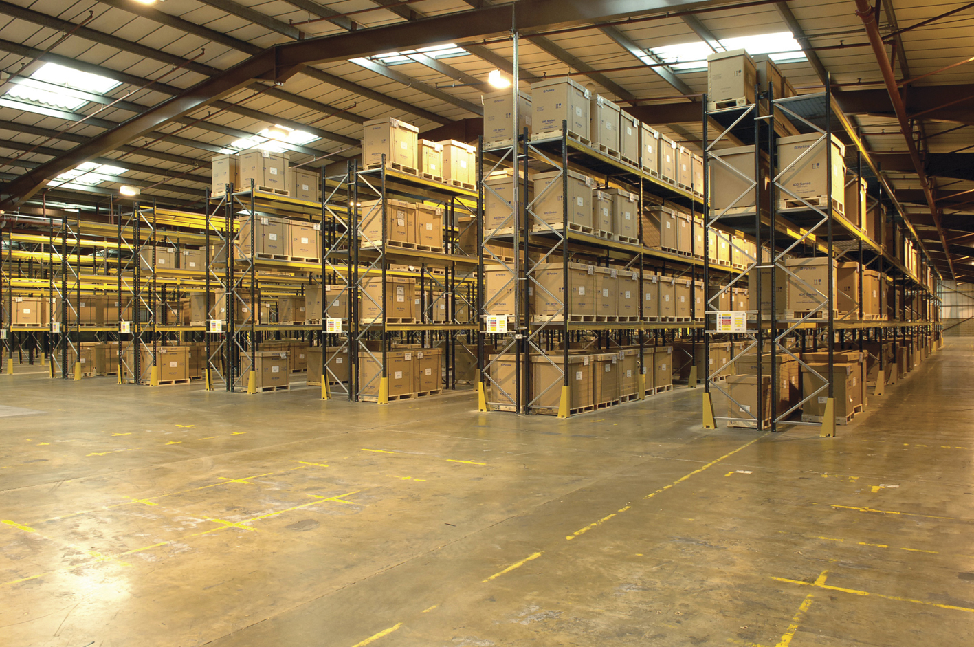 Warehouse pallet racking by NSI