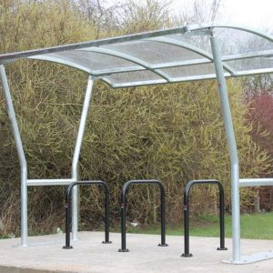 Covered cycle shelter