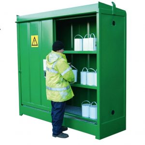 Hazardous storage cabinet - green