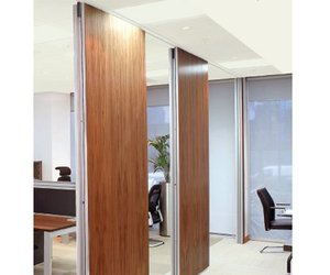 Slideable walls internal office