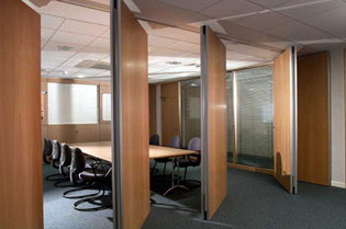 Turnable office partition walls