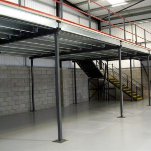 Mezzanine floor helps increase the floor space of a warehouse