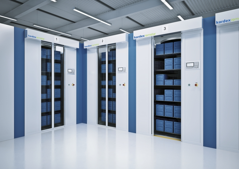 Kardex Remstar shelving usints