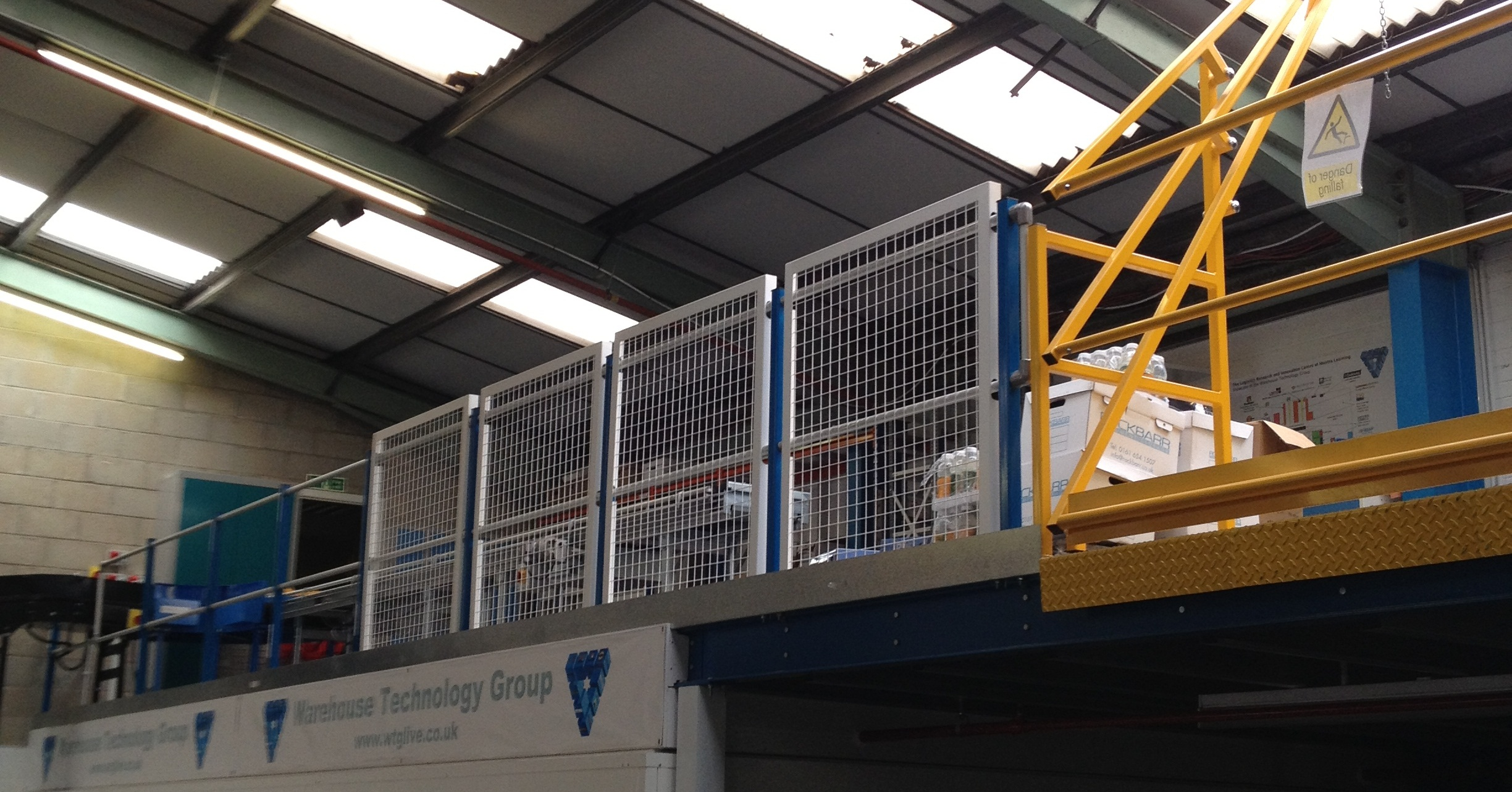 Mezzanine floor installed for Warehouse technology group