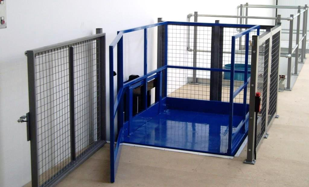 Mezzanine access using installed lift