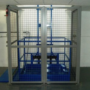 Goods lift and safety gate