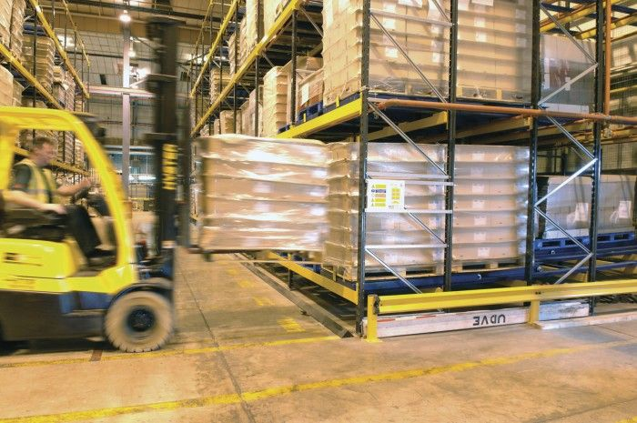 Pallet Live and Push Back Racking
