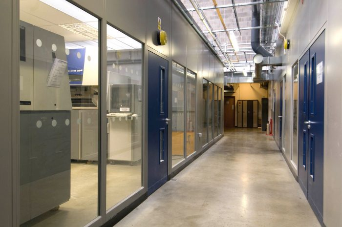 Steel partitioning installed by NSI Projects