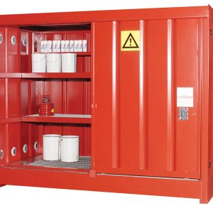 Hazardous storage cabinet - red