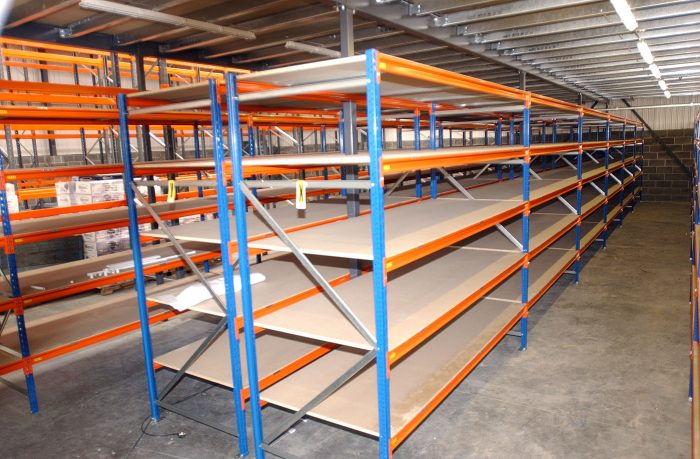 Heavy duty shelving units